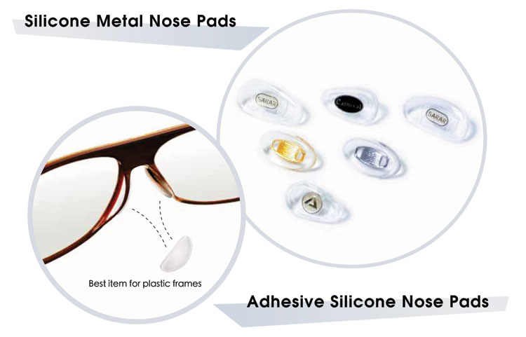 Silicone Metal Insert Nose Pads / Adhesive Silicone Nose Pads